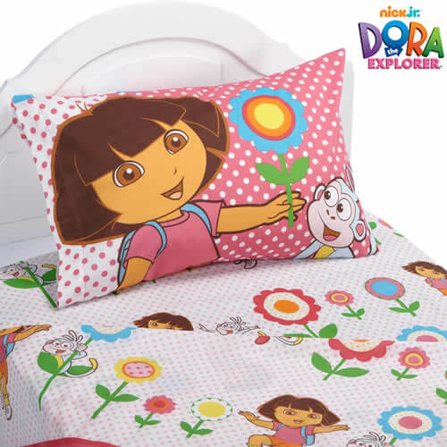 dora explorer bedding set