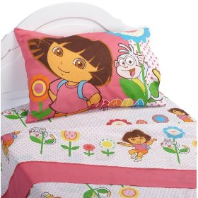 dora bed with pillow
