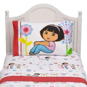 white dora bedding