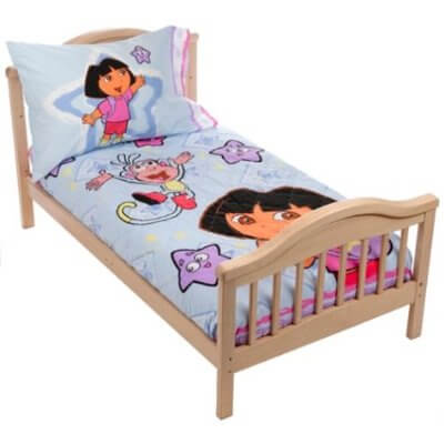 blue dora bedding