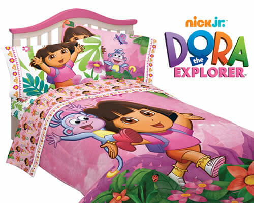 shop for dora bedding create a dora the explorer bedroom