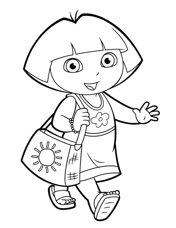 coloring pages with dora - photo#45