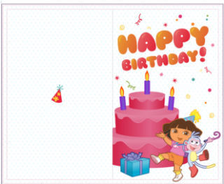 Dora The Explorer Birthday Cards Pictures to Pin on ...