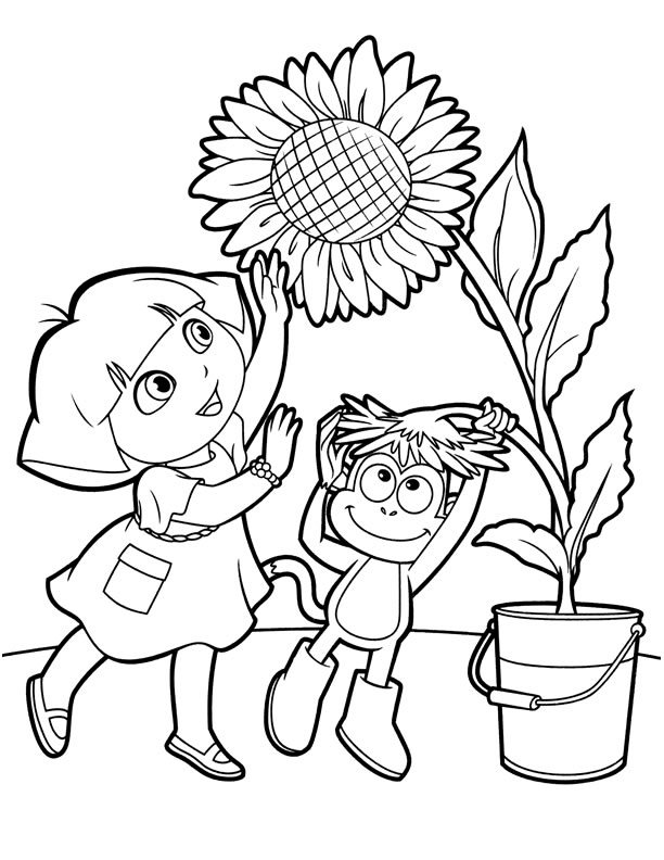 dora coloring pages backpack - photo#29