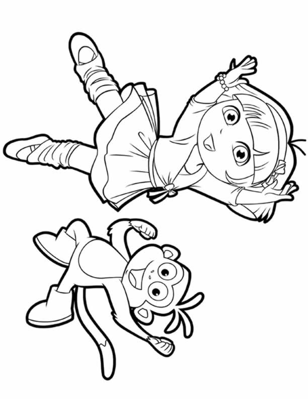 dora boots swiper coloring pages - photo#27