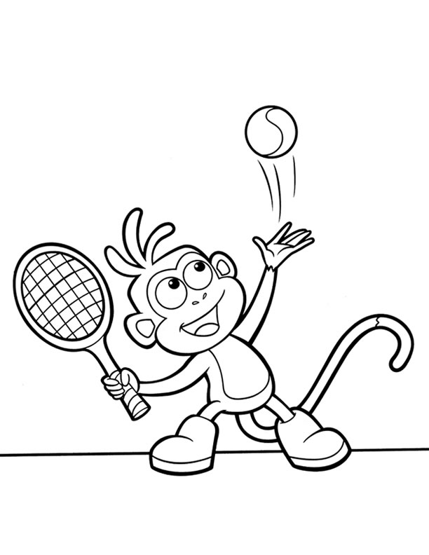 tennis coloring book pages - photo#14
