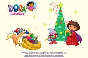 christmas pictures of dora the explorer