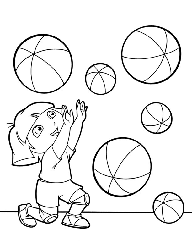 dora backpack coloring pages images