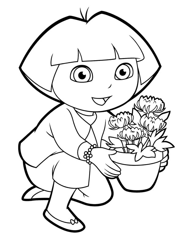 dora coloring pages backpack - photo#6