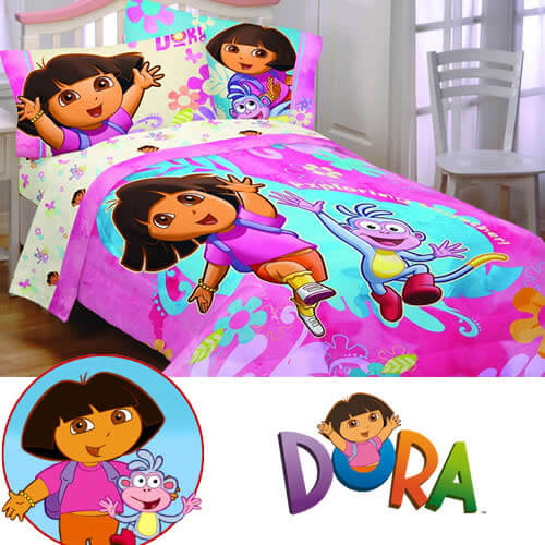 pink dora bedding sheets