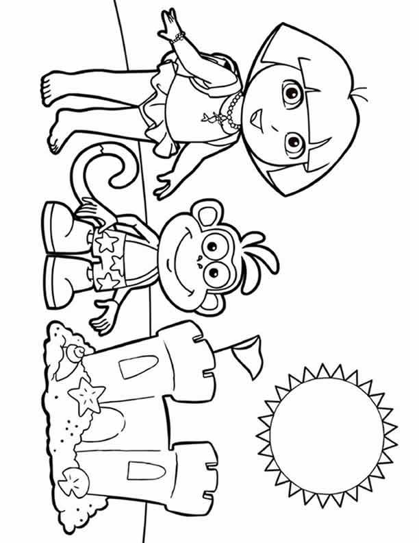 Dora Coloring Lots of Dora Coloring
