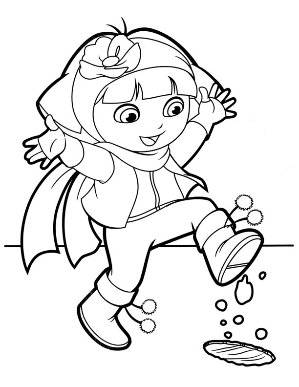 dora backpack coloring pages - photo#22