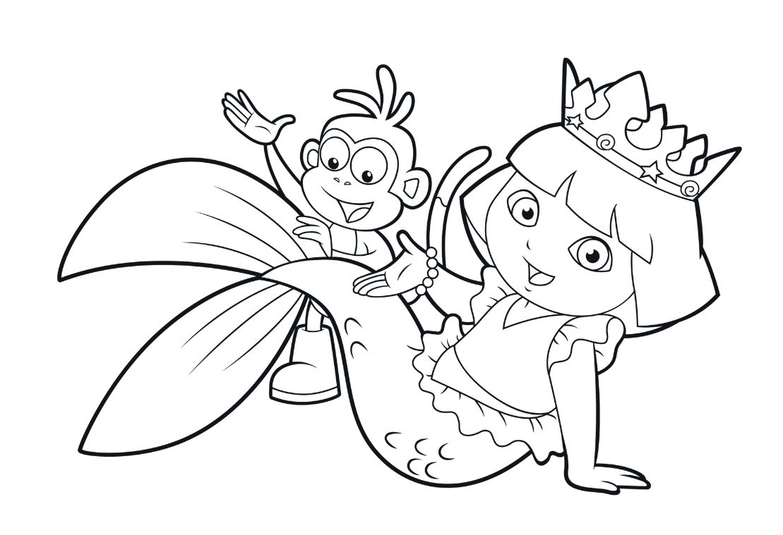 dora the exploror coloring pages - photo#25