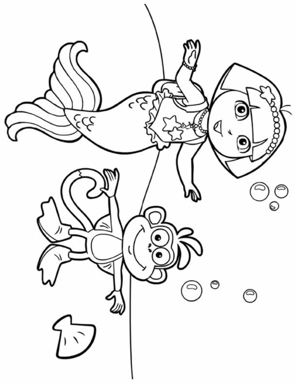 coloring pages with dora - photo#36