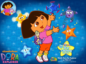 picture of dora catching stars