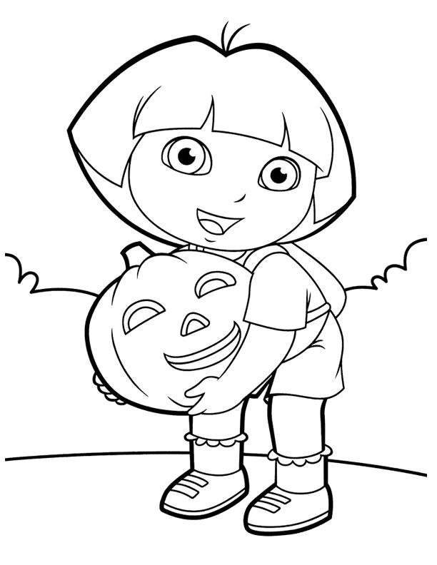 coloring pages dora halloween book - photo#2