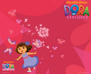dora picture with butterflies