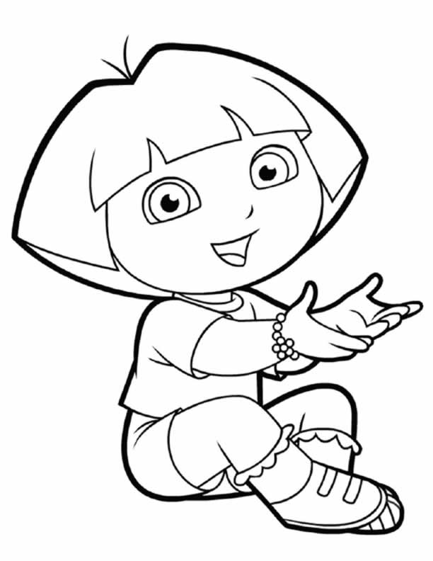 Dora Colouring Sheets