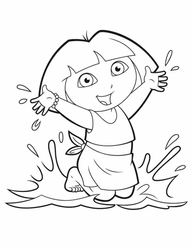 Dora Colouring Sheets - PDF Printable - Dora and Friends, Christmas ...