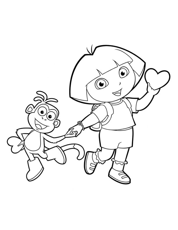 coloring pages with dora - photo#38