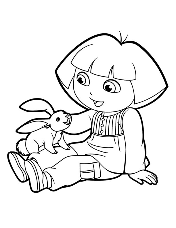 dora coloring valentine easter pages - photo#20