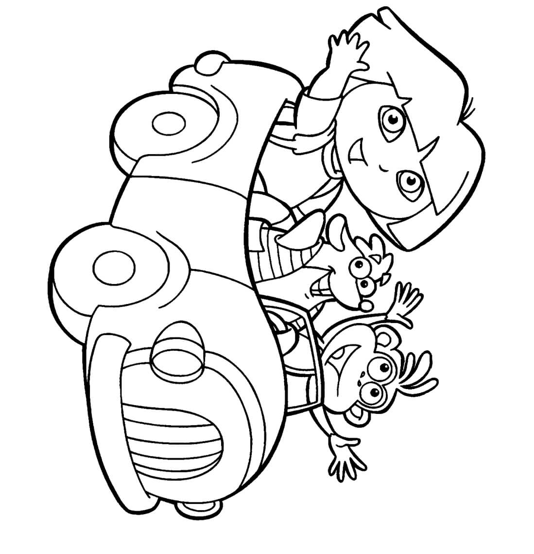 coloring pages with dora - photo#20