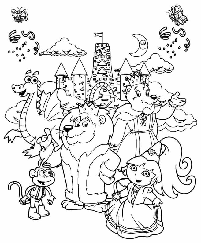 Dora The Explorer Coloring Pages And Friends