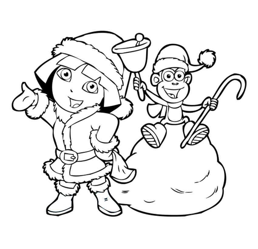 dora coloring pages backpack - photo#15