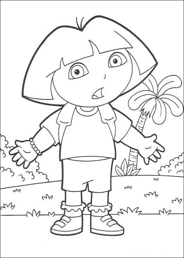 doras backpack coloring pages - photo #43