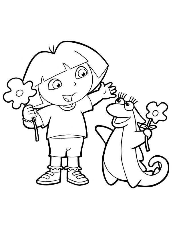 dora the explorere coloring pages - photo#11