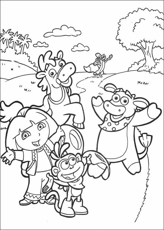 Dora Coloring Pages Backpack