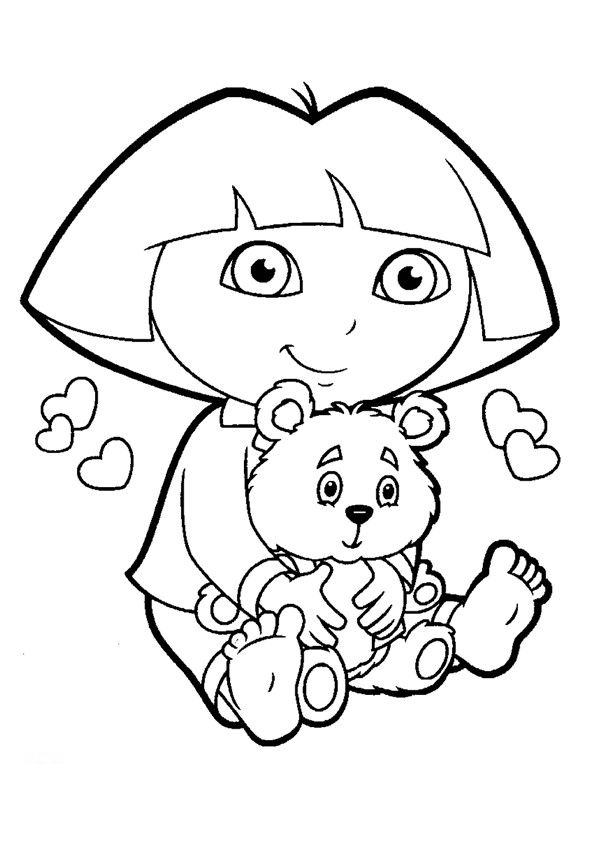 coloring pages with dora-#30