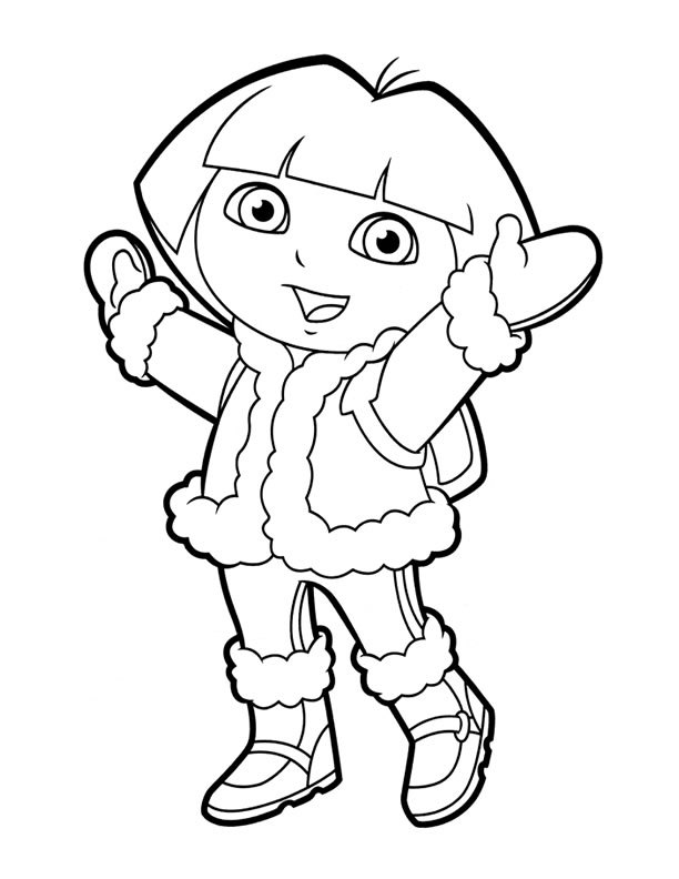 Pick Clothing Black And White Coloring Page