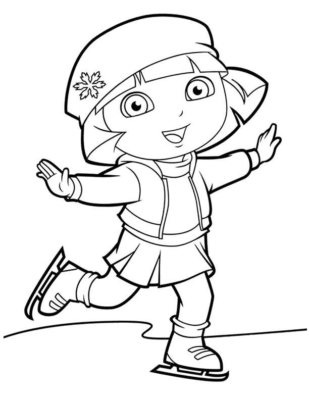 Dora The Explorer Ice Skating