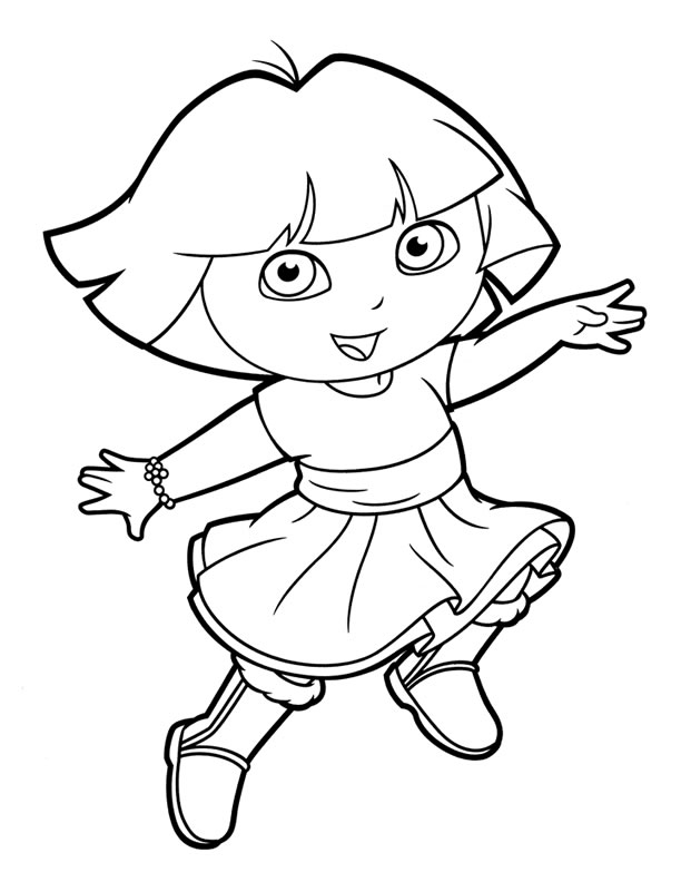 coloring pages with dora - photo#3
