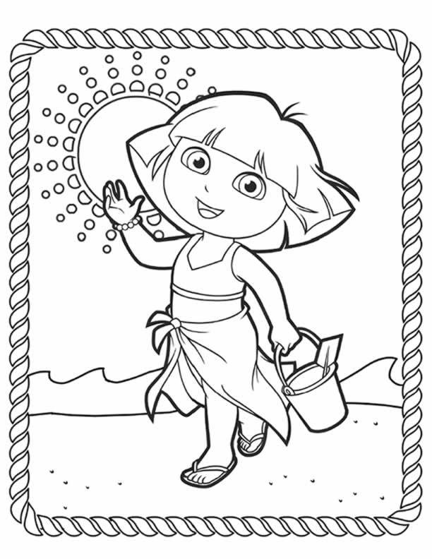 Dora Colouring Sheets