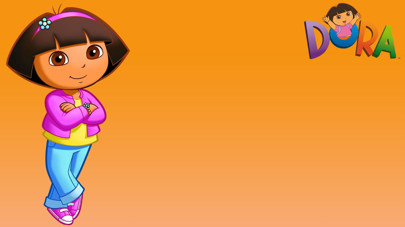 Dora pictures huge collection of dora the explorer pictures orange background wallpaper with dora the explorer voltagebd Image collections